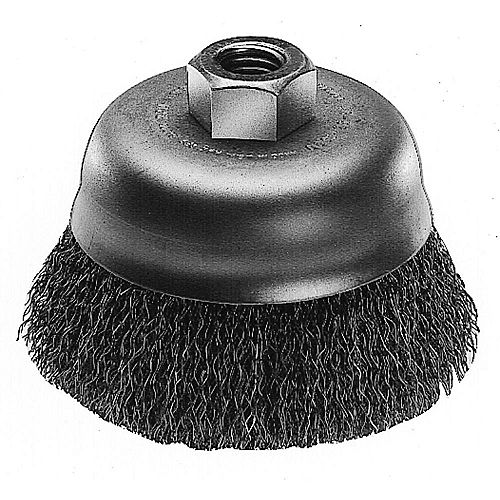 Milwaukee Tool 3-inch Hyperwire Crimped Wire Cup Brush in Carbon Steel