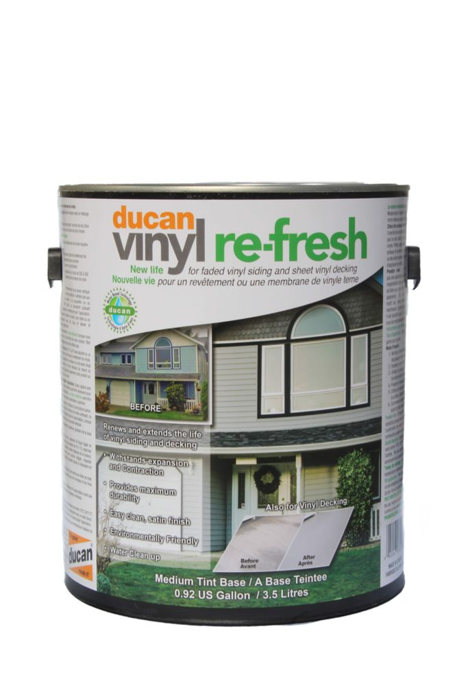 Vinyl Re-Fresh, for use on old faded sheet vinyl decking to make it look new.