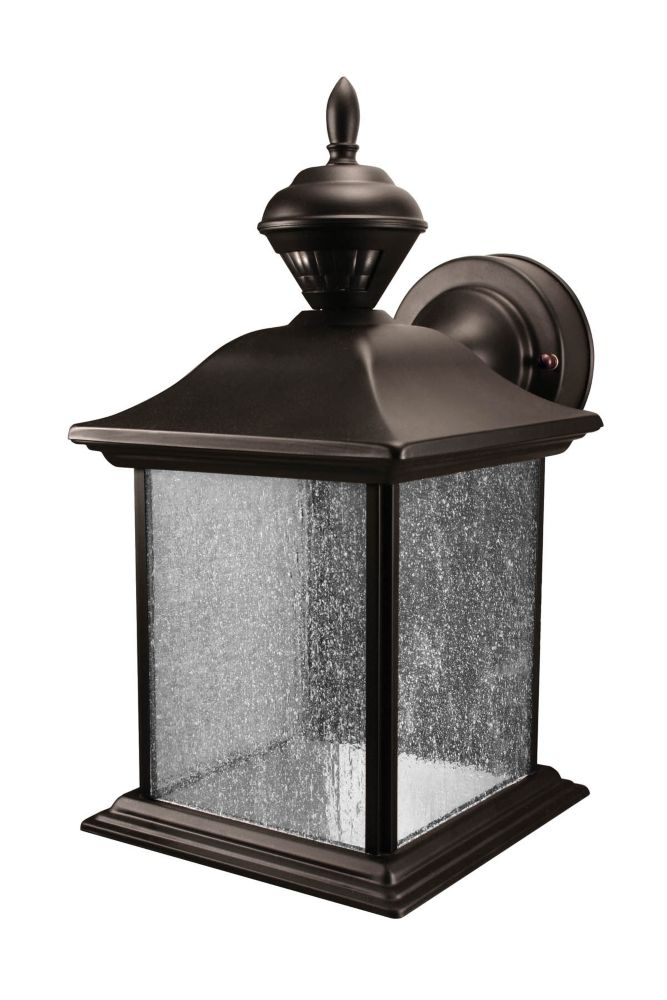 150 Degree City Carriage Lantern with Clear Seeded Glass - Black