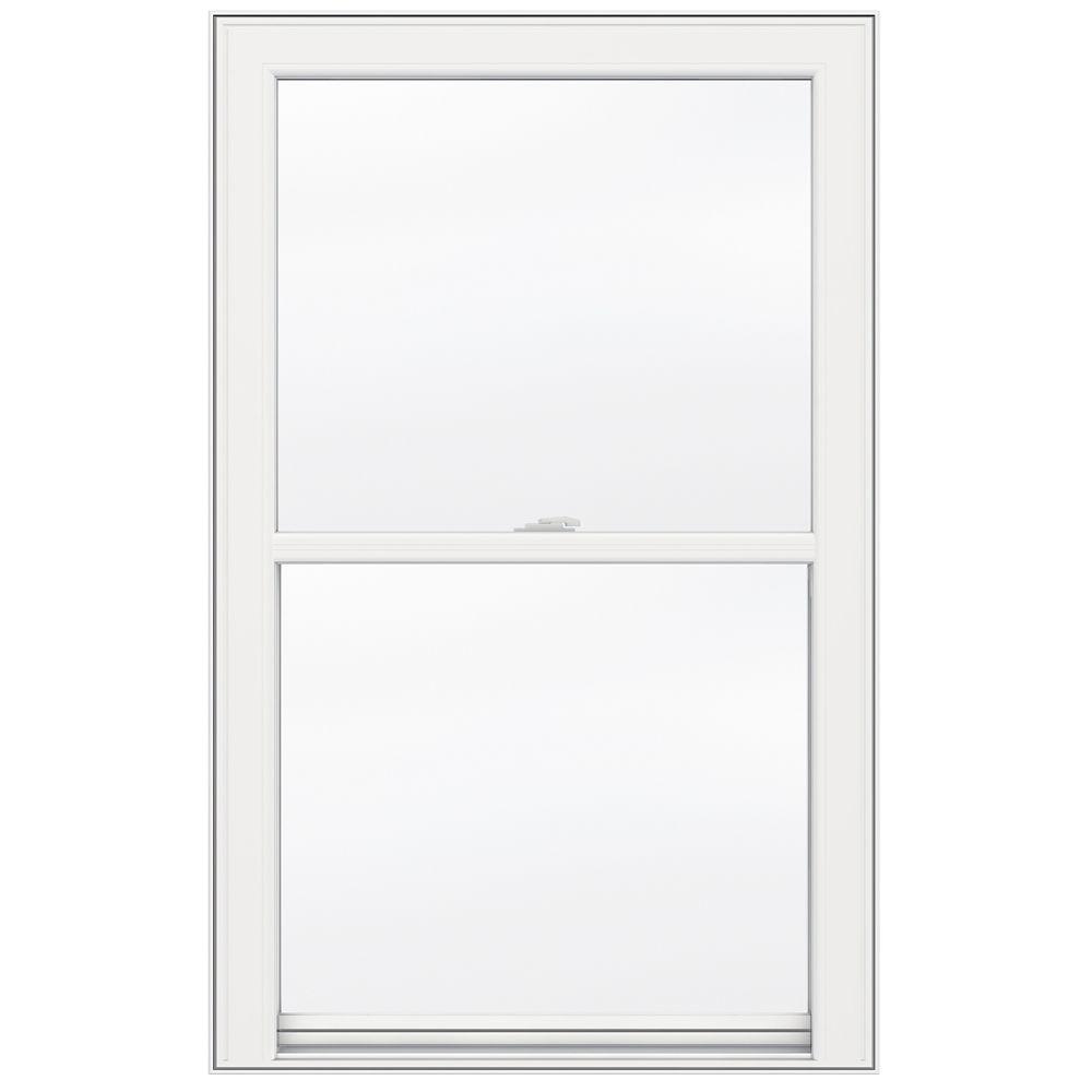 JELD-WEN Windows & Doors 30-inch x 48-inch 5000 Series Single Hung Vinyl Window with 3 1/4-inch Frame - ENERGY STAR®