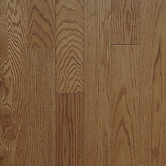 Échantillon - Plancher, bois massif, 3 1/4 po x 5 1/2 po, chêne rouge Inca Gunstock Satin