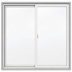 48inch x 47inch series vinyl double sliding window with 3 1
