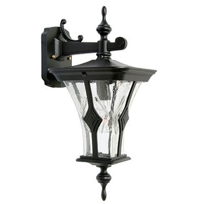 Mirage, Downlight Wall Mount,  Clear Seeded Glass Globe, Black