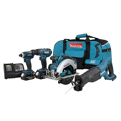 18V Lithium-Ion Cordless Combo Kit (4-Tool)