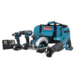 MAKITA 18V Lithium-Ion Cordless Combo Kit (4-Tool)