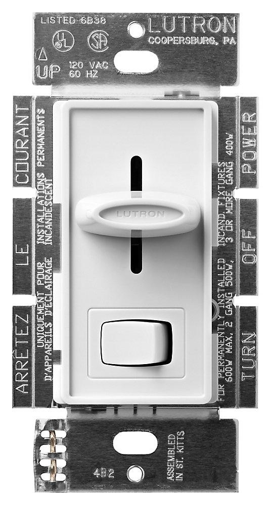 Skylark 600-Watt Single Pole/3-Way Eco-Dim Dimmer, White