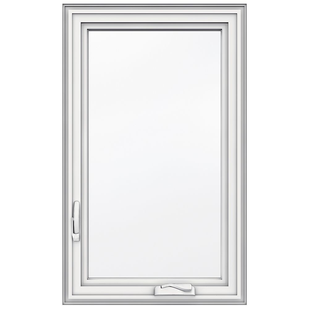 23-inch x 38-inch 5000 Series Vinyl Left Handed Casement Window with 3 1/4-inch Frame