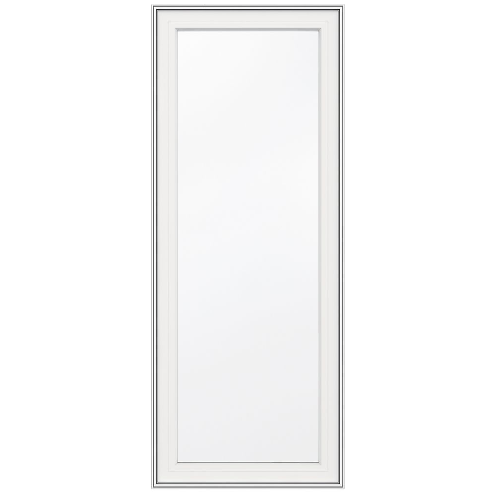 24-inch x 60-inch 5000 Series Vinyl Left Handed Casement Window with 3 1/4-inch Frame