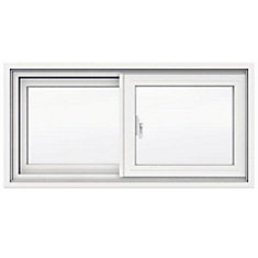 31 5/8-inch x 15 1/8-inch 1700 Series Sliding Vinyl Clad Window with 4 9/16-inch Frame