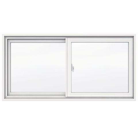 47 3/8-inch x 23-inch 1700 Series Sliding Vinyl Clad Window with 4 9/16-inch Frame