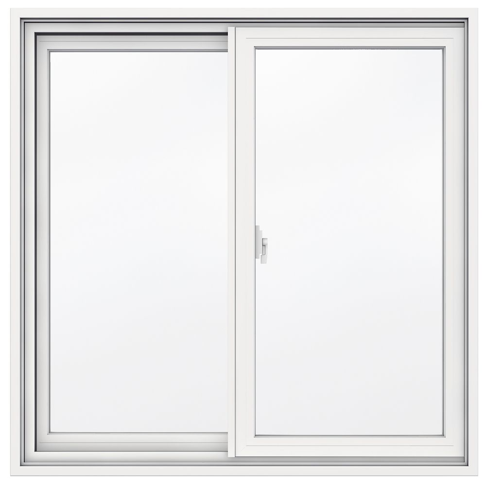35 9/16-inch x 34 13/16-inch 1700 Series Sliding Vinyl Clad Window with 4 9/16-inch Frame