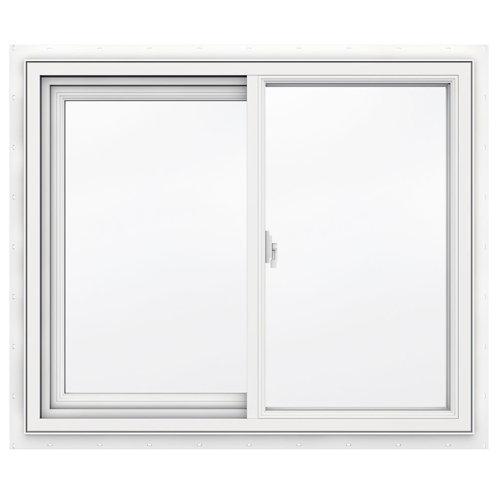Jeld wen windows doors 3500 series vinyl slider window for Vinyl home windows