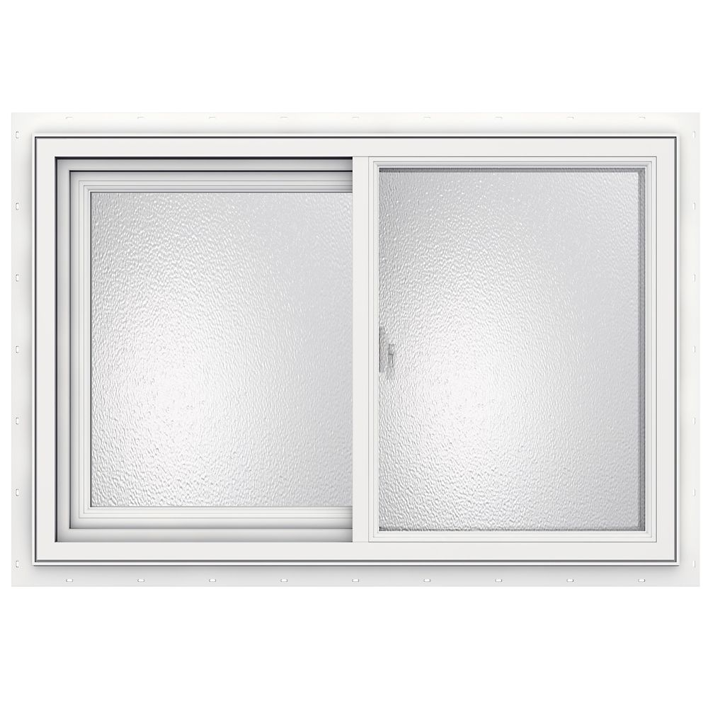 36-inch x 24-inch 3500 Series Sliding Vinyl Obscure Window