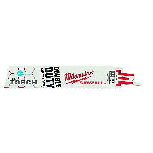 Milwaukee Tool 6 inch 18 TPI Ice Hardened The Torch Sawzall Blades (5 Pk)