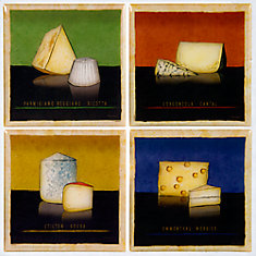 Cheeses Motif - 4 Piece