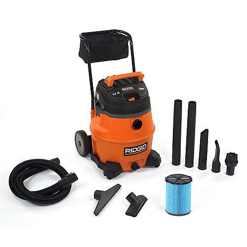 RIDGID 60L (16 gal.) 6.5 Peak HP Wet Dry Vacuum with Cart
