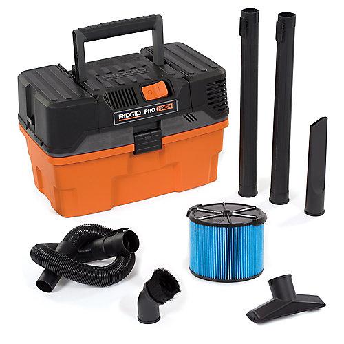 Aspirateur sec/humide portatif de Pro Pack 17 litres (4,5 gal), 5 HP crête