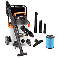 60 Litre (16 Gal.) 6.5 Peak HP Stainless Steel Wet Dry Vacuum with Cart
