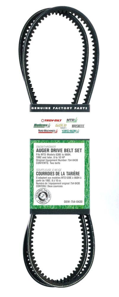 Auger Drive Belt Set