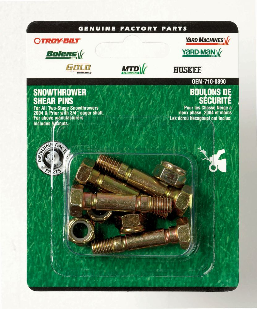 Shear Bolts With Nuts - 1.5 In.