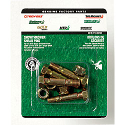1.5-inch Snowthrower Shear Bolts with Nuts for 3/4-inch Auger Shaft