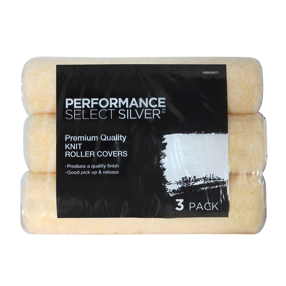 """Performance Select Silver 10mm 9.5"""" - paquet de 3"""
