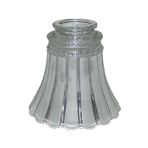 Shawson Lighting 5 In. Glass, Etched Clear Finish