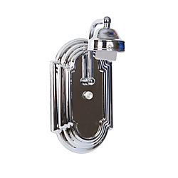 Shawson Lighting 12,1cm Vanité de salle de bains, sans verre, fini chromé