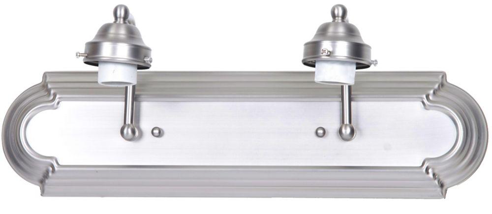 Shawson Lighting  45,72cm Vanité de salle de bains, sans verre,  fini nickel brossé
