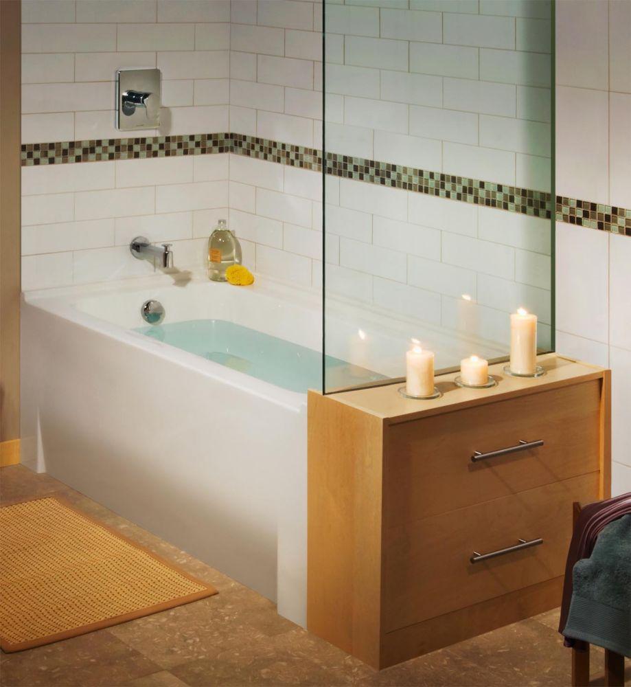 Minimalist Acrylic Non Whirlpool Bathtub