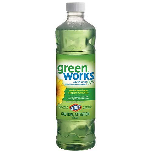 GreenWorks 828mL Multi-Surface Cleaner (Original Citrus Scent)