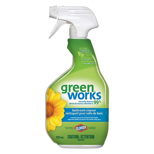 GreenWorks Bathroom Cleaner Spray, 709 mL