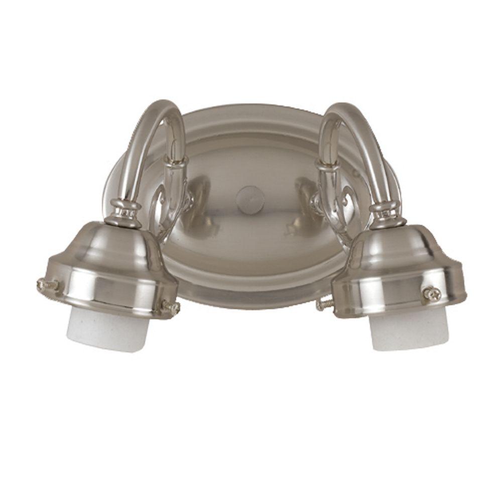 Shawson Lighting  20,32cm Vanité de salle de bains, sans verre,  fini nickel brossé
