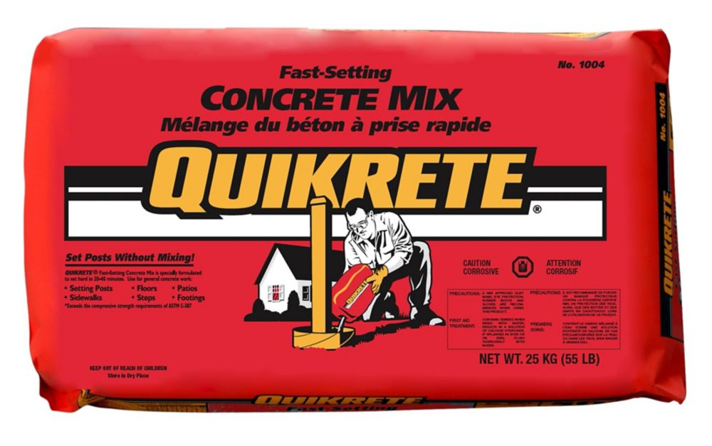 Fast Setting Cement : Quikrete fast setting concrete mix kg the home depot