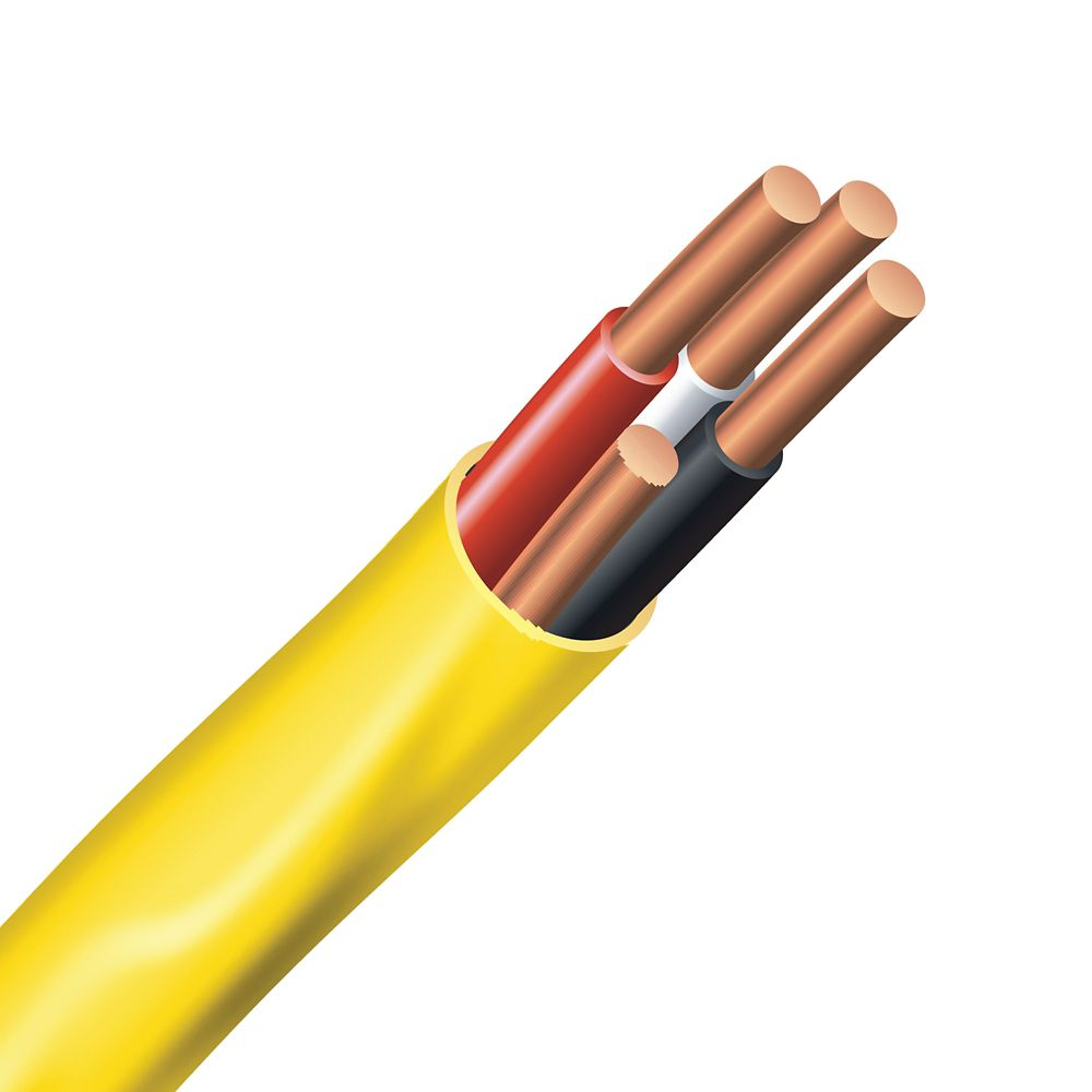 Electrical Cable � Copper Electrical Wire Gauge 12/3 - Romex SIMpull NMD90 12/3 Yellow - 10M
