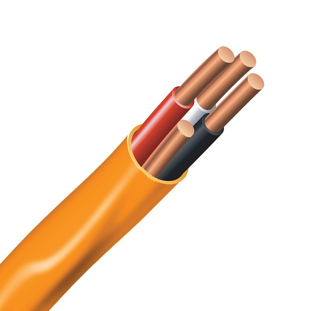 Electrical Cable � Copper Electrical Wire Gauge 10/3 - Romex SIMpull NMD90 10/3 Orange - 30M