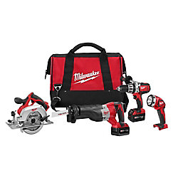 Milwaukee Tool M18 Cordless Lithium-Ion 4-Tool Combo Kit