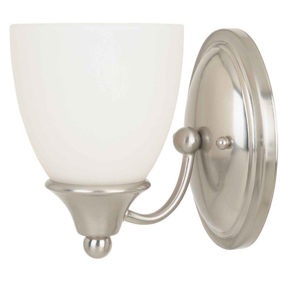 Commercial Electric 1-Light Brushed Nickel Bath Bar