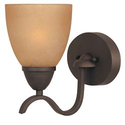 Commercial Electric 1-Light Oil Rubbed Bronze Bath Bar