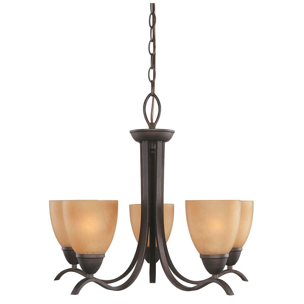 Commercial Electric 5-Light Oil Rubbed Bronze Chandelier