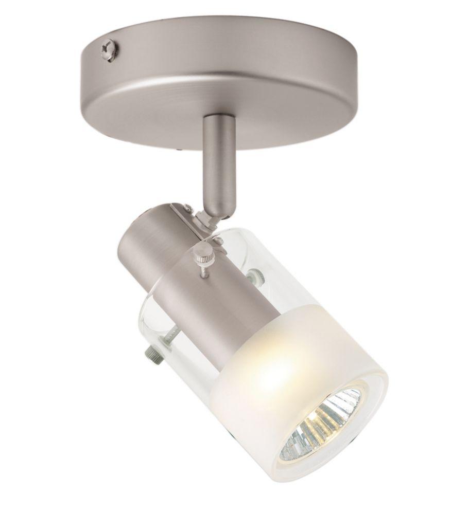 1 Light Semi-Flushmount Cylinder Glass Ceiling Fixture Brushed Nickel Finish CEC334BA Canada Discount