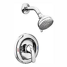 Adler 1-Handle 1-Spray Shower Faucet in Chrome (Valve Included)