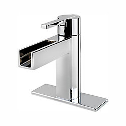 Pfister Vega Single Hole 1-Handle High Arc Waterfall-Flow Bathroom Faucet in Chrome with Lever Handle