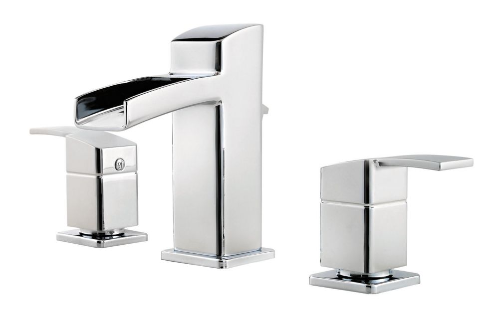 Kamato 8-inch Widespread Bathroom Faucet in Polished Chrome Finish