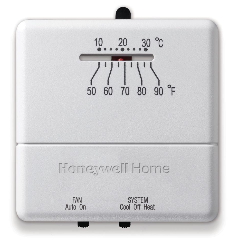 Thermostat manuel économique pour chauffage-refroidissement
