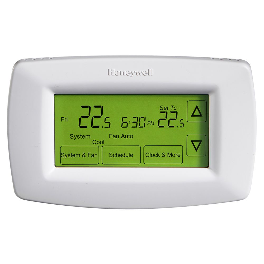 honeywell honeywell 7 day touchscreen programmable thermostat the home depot canada. Black Bedroom Furniture Sets. Home Design Ideas