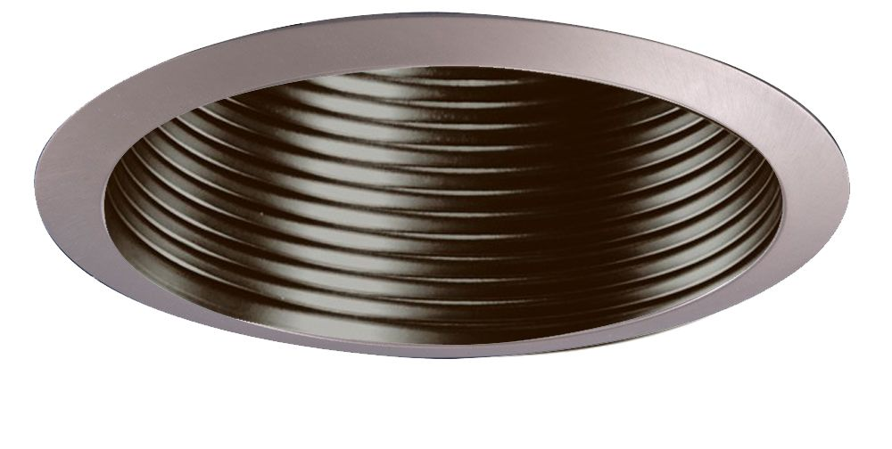 Satin Nickel Metal Baffle and Trim Ring-4 Inch Aperture