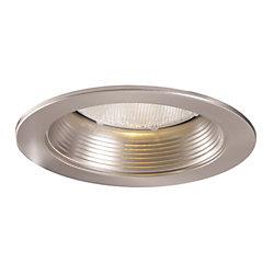 Halo Déflecteur métallique 5001SN et garniture nickel satiné, ouverture de 13 cm