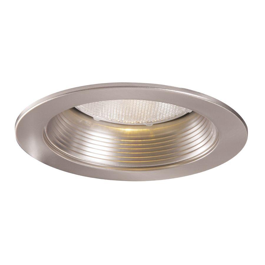 Déflecteur métallique 5001SN et garniture nickel satiné, ouverture de 13 cm