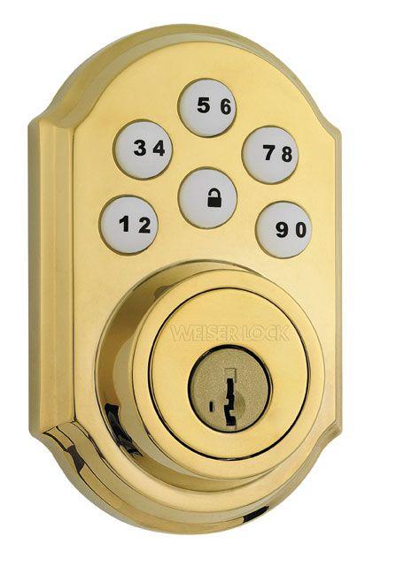 SmartCode Brass Keyless Entry Deadbolt